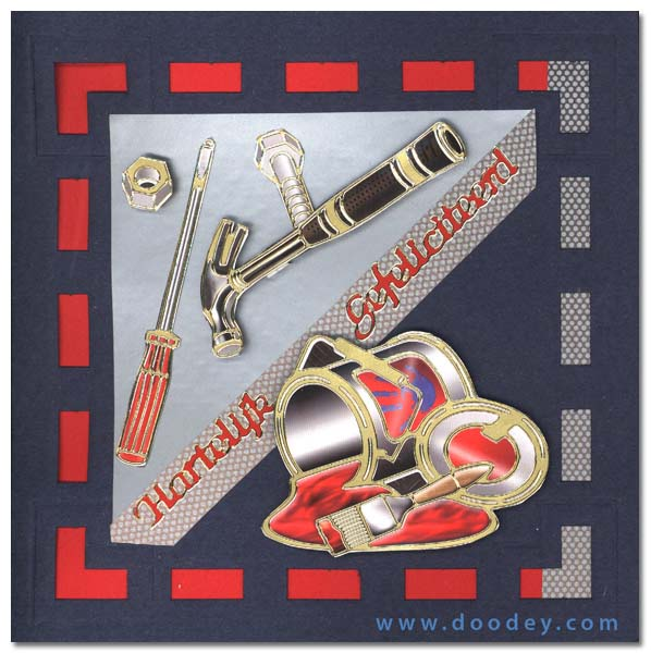 boys card with tools