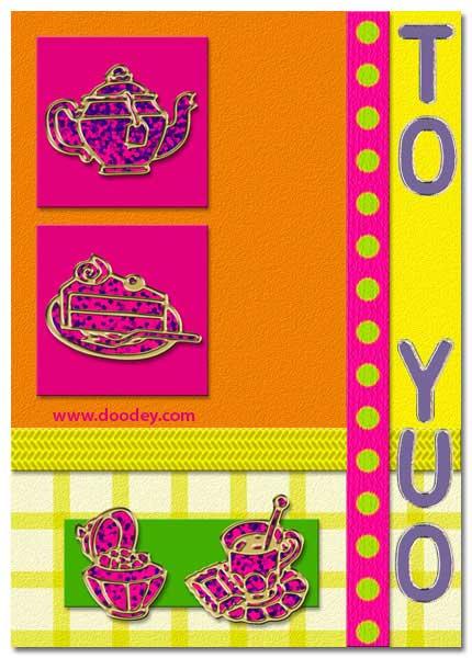 tea time scrapbook card