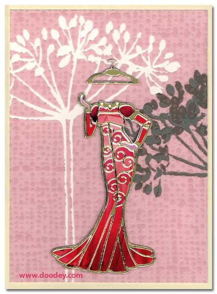 fashion card evening dress