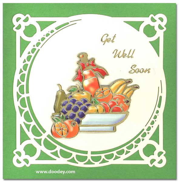 get well card fruit basket