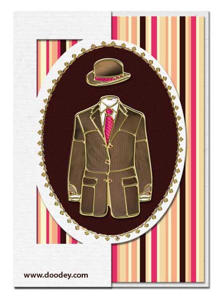 boys fashion card suit