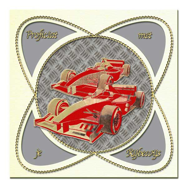 card with racing cars