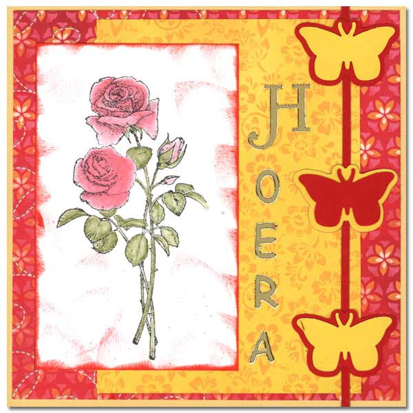 scrap card with a rose