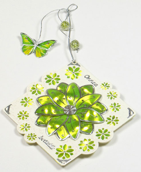 card with flowers and butterfly