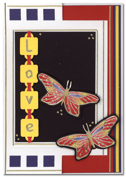 card love with butterflies