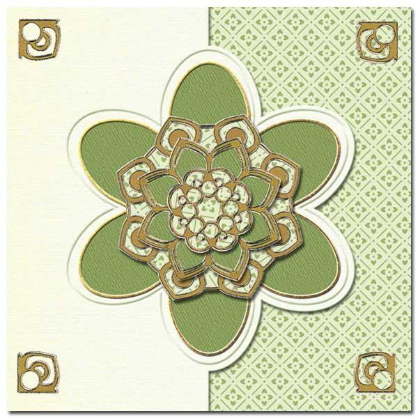 zigzag card with mandala