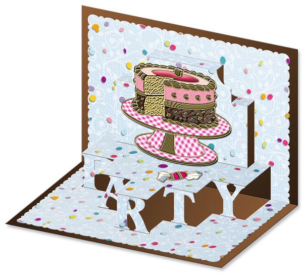 3D pop-up party card