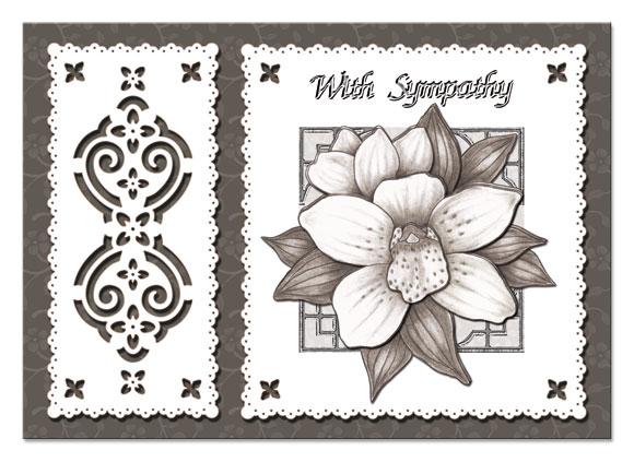 3D sympathy flower card with sympathy