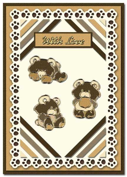 card with bears