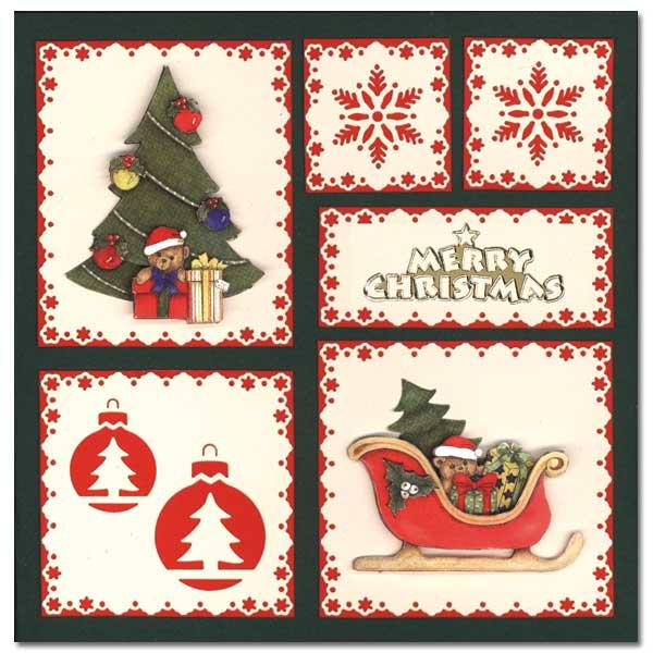 Christmas Card with Christmas tree and Christmas s