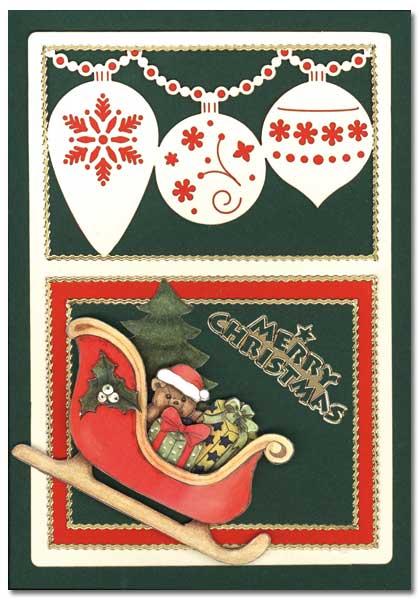 Christmas Card with Christmas sleigh and Christmas