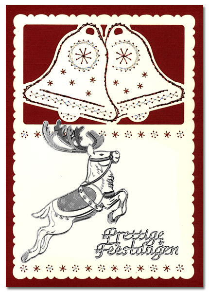 embroidered card christmas with star
