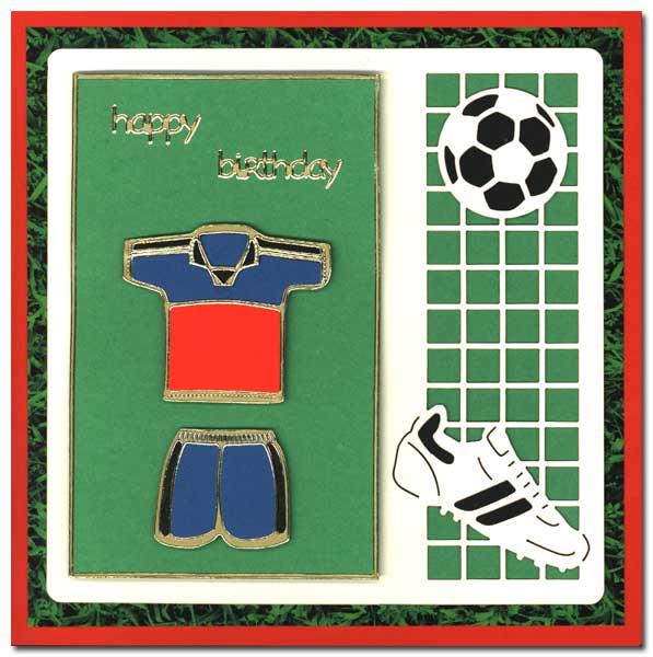 birthday card with soccer shirt