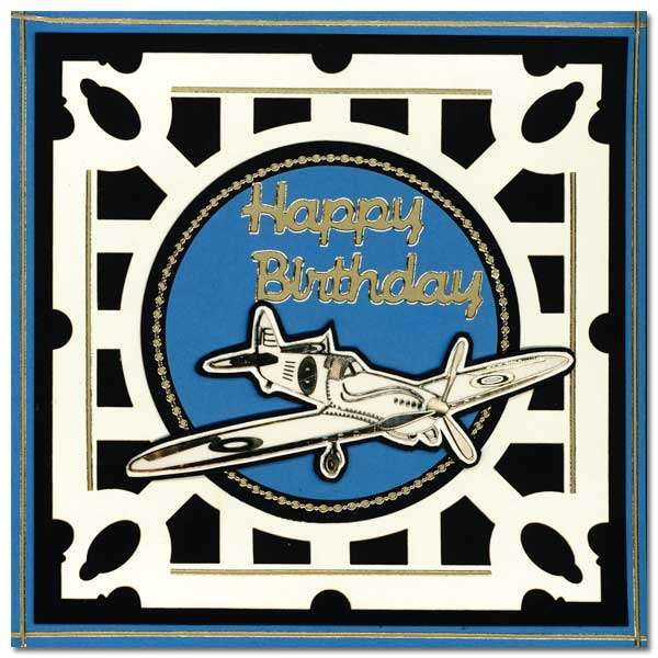card with old plane