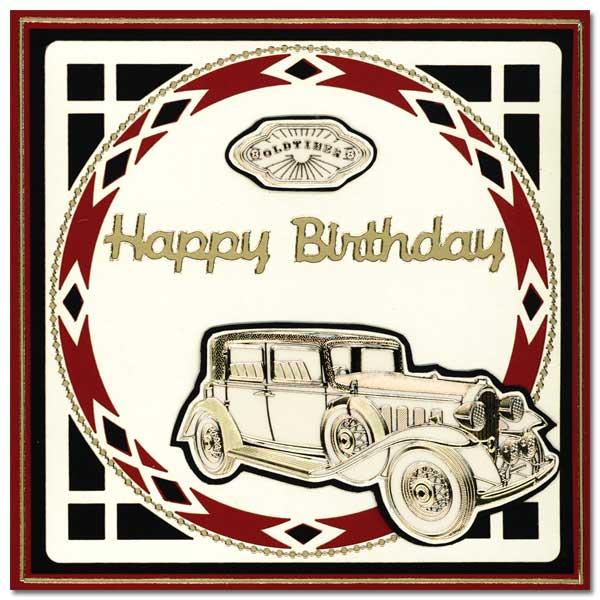 card with oldtimer car
