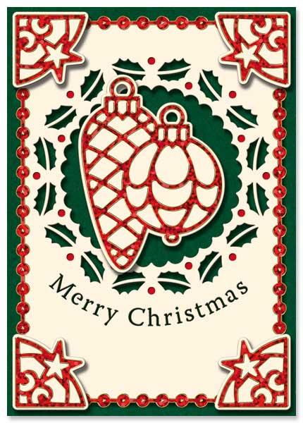 Holographic christmas card