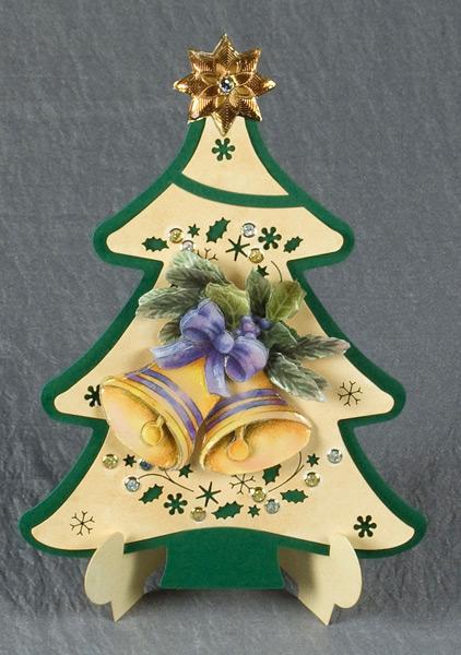card christmas tree shape