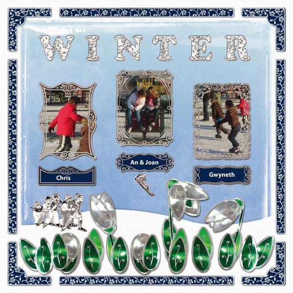 Scrapbook page Winter