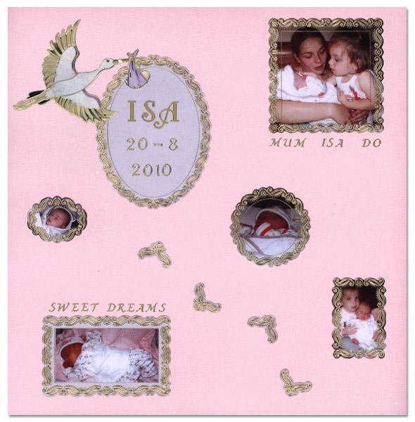Scrapbook page Birth
