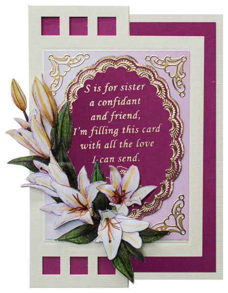 card with flowers