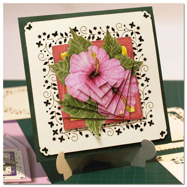 card and cardlayer with flowers