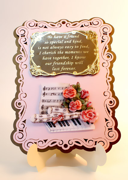 stand-easy card a5 with 3D roses