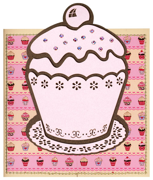 card with big cupcake