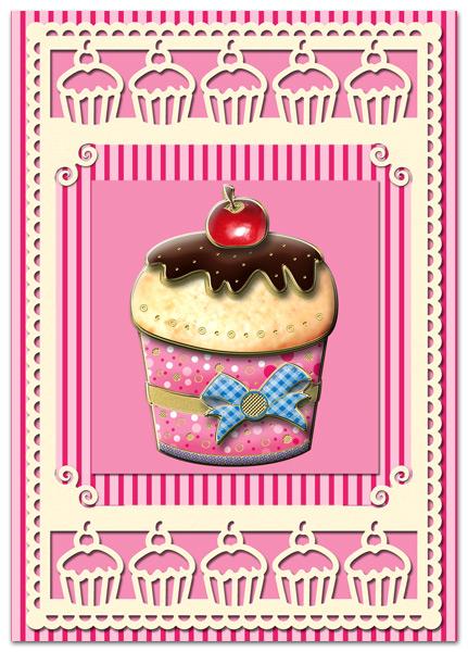 3D Match-it Cupcake card