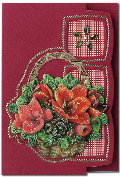 Lomiac card with easy 3d bloemenmand