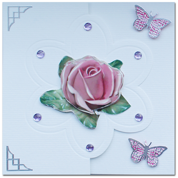 lomiac card with rose