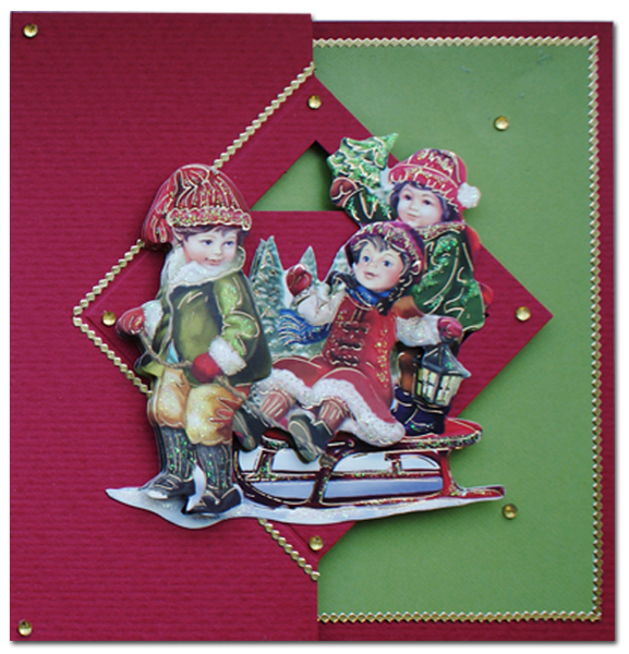 christmascard with easy 3d
