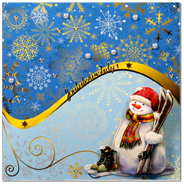 dress up card christmas
