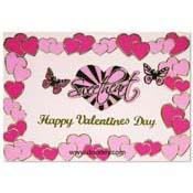 liefdes kaart met sweetheart en hartjes