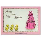 geboorte kaart 3 eendjes meisje