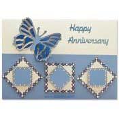 verjaardagskaart met vlinder