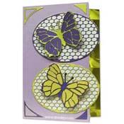 kaart met 2 vlinders