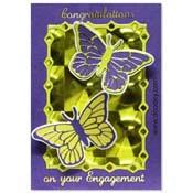verlovingskaart met 2 vlinders