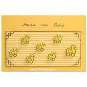 geboorte kaart eendjes en strepen
