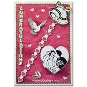 huwelijks kaart met hartjes