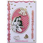 huwelijks kaart klokken en ring
