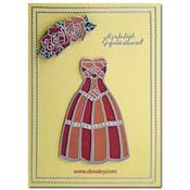 felicitatie kaart jurk met rozen