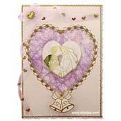 huwelijks kaart hartjes randje en bel