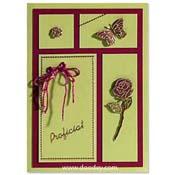 Proficiat kaart lente met roos