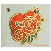 bloemkaartjes hartje met rozen
