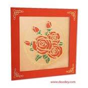 kaart met rozen in circel