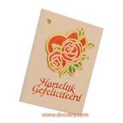bloemenkaart hartelijk gefeliciteerd roos in hart