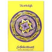 Gefeliciteerd kaart borduren cirkels met bloem