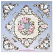 liefdes kaart borduren ornament cirkels
