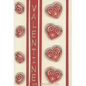 kaart borduren liefde valentijn 4 hartjes