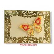 kaart borduren vlinder